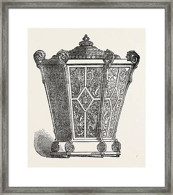 Ladys Work Basket Framed Print by A. Renel, Of Vienna, Austrian, 19th Century