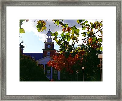 Lafayette College - Easton Pa Framed Print by Jacqueline M Lewis