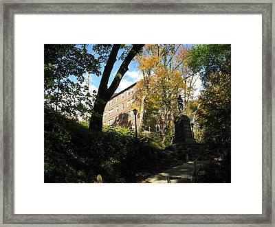 Lafayette College Easton - Town Meets Gown Framed Print by Jacqueline M Lewis