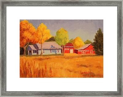 Lafayette Farm  Framed Print