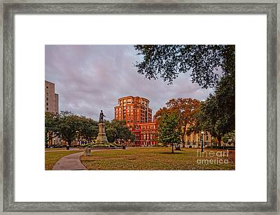 Lafayette Square New Orleans Downtown - Lousiana Framed Print by Silvio Ligutti