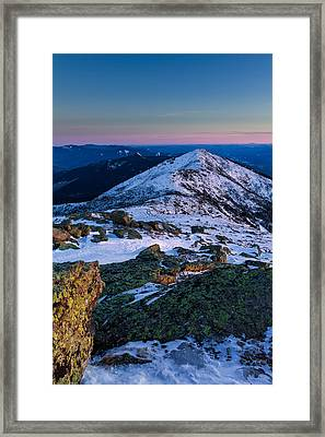 Lafayette To Lincoln Winter On Franconia Ridge. Framed Print