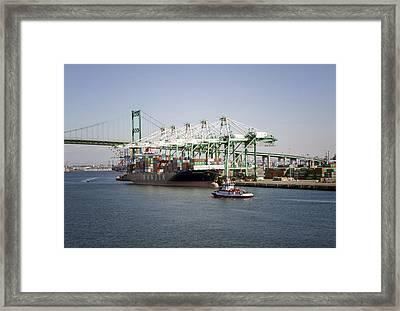 Lafd Fire Boat 2 San Pedro Ca 03 Framed Print