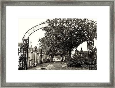 Lafeyette Cemetery No. 1 Sepia Framed Print by John Rizzuto