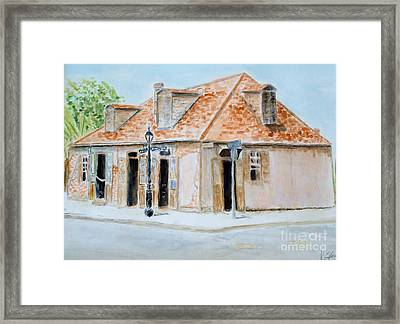 Lafitte's Blacksmith Shop Framed Print by Katie Spicuzza