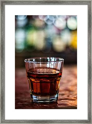 Lafitte's Whiskey Framed Print by Andy Crawford