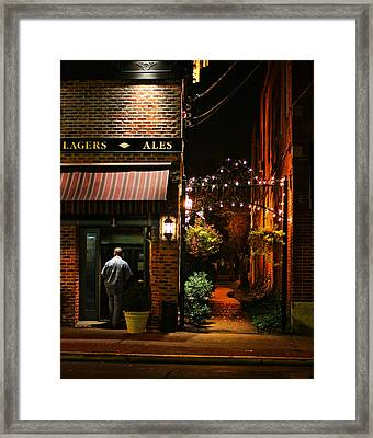 Lagers And Ales Framed Print by Laura Fasulo