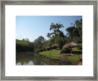 Lago Da Fazenda Framed Print by Maria Akemi  Otuyama