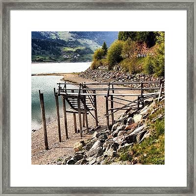 Lago Di #resia #altoadige Framed Print