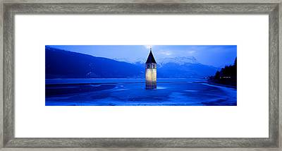 Lago Di Resia Church, Tyrol, Italy Framed Print by Panoramic Images