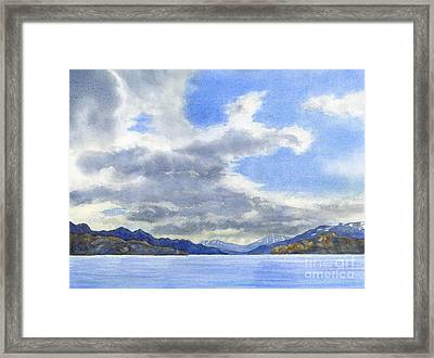 Lago Grey Patagonia Framed Print by Sharon Freeman