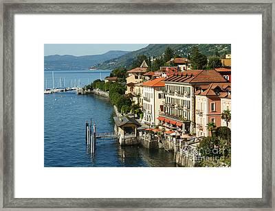 Lago Maggiore Framed Print by Carol Weitz