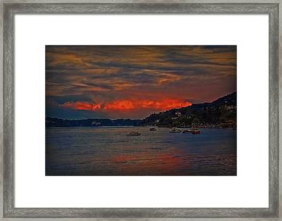 Framed Print featuring the photograph Lago Maggiore by Hanny Heim
