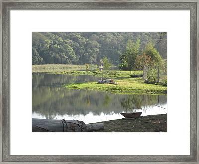 Lagoa Framed Print by Maria Akemi  Otuyama
