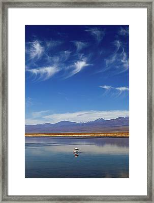 Lagoon And Volcanoes Framed Print by Babak Tafreshi