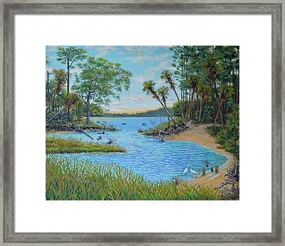 Lagoon At Hunting Island 2 Framed Print