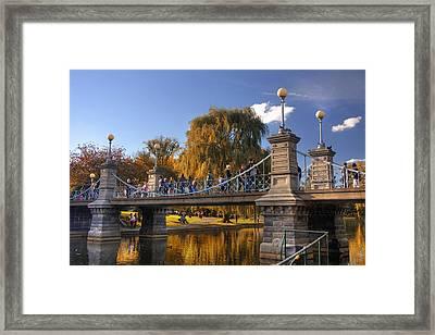 Lagoon Bridge In Autumn Framed Print