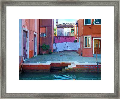 Lagoon Courtyard Framed Print by Francois Girard
