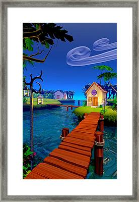 Lagoon Framed Print by Cynthia Decker