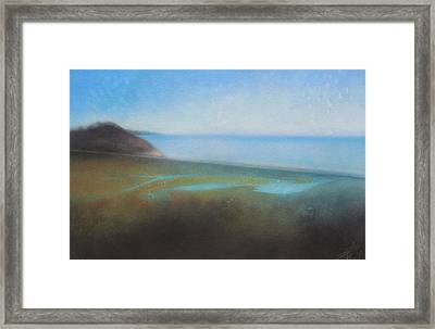 Lagoon II Or Overlooking Torrey Pines Framed Print