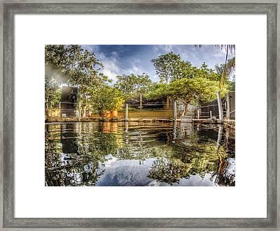 Lagoon Mirror Framed Print