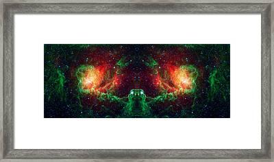Lagoon Nebula Reflection Framed Print by Jennifer Rondinelli Reilly - Fine Art Photography