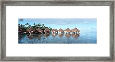 Lagoon Resort, Island, Water, Beach Framed Print