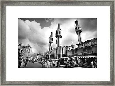 Lagos Central Mosque Framed Print