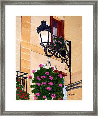 Laguardia Street Lamp  Framed Print by Mike Robles