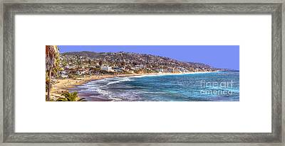Laguna Beach Coast Panoramic Framed Print