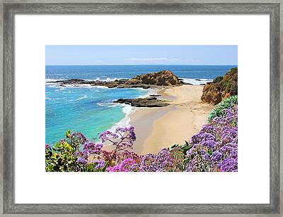 Laguna Beach Coastline Framed Print by Jane Girardot