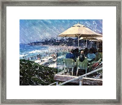 Laguna Beach Hotel Afternoon Framed Print