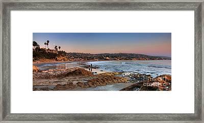 Laguna Beach Panorama Framed Print by Eddie Yerkish