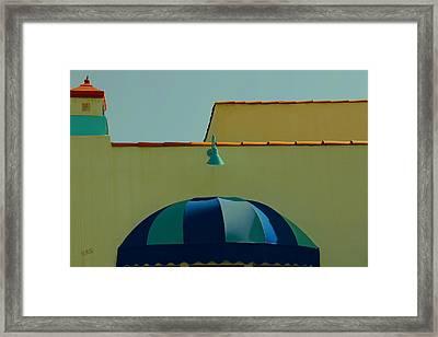 Laguna Beach Roof Framed Print