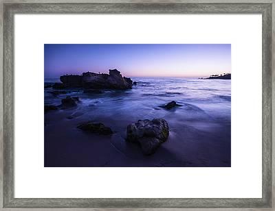 Laguna Beach Sunset In Ca Framed Print