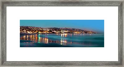 Laguna Beach Twilight Reflections Framed Print by Cliff Wassmann