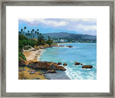 Laguna Beach Winter Framed Print by Alice Leggett