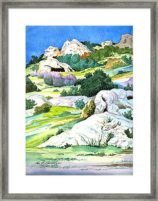 Laguna Canyon Rocks Framed Print by John Norman Stewart
