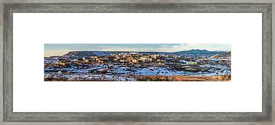 Winter Afternoon Laguna Pueblo - Native American Pueblo Photograph Framed Print by Duane Miller