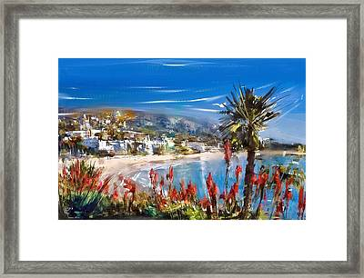 Laguna Sparkle Framed Print by Russell Pierce