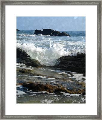 Laguna Splash Framed Print