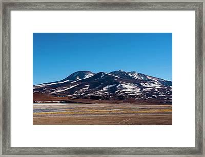 Laguna Tuyajto, Atacama Desert, Chile Framed Print by Sergio Pitamitz