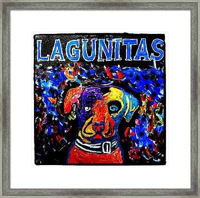 Lagunitas Dog Framed Print by Neal Barbosa