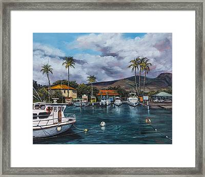 Framed Print featuring the painting Lahaina Harbor by Darice Machel McGuire