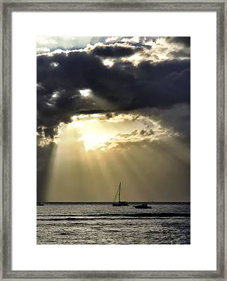 Lahaina Sunset 2 Framed Print by Dawn Eshelman