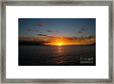 Lahaina Sunset Framed Print