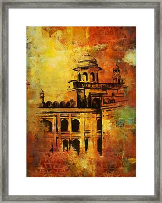 Lahore Fort Framed Print by Catf
