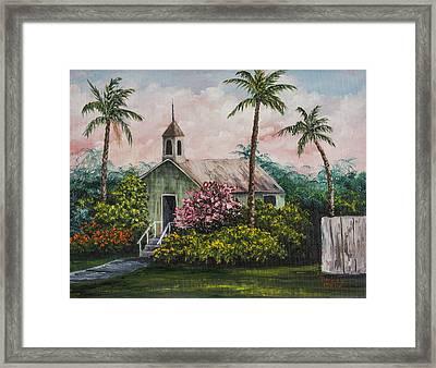 Lahuiokalani Chapel Framed Print by Darice Machel McGuire