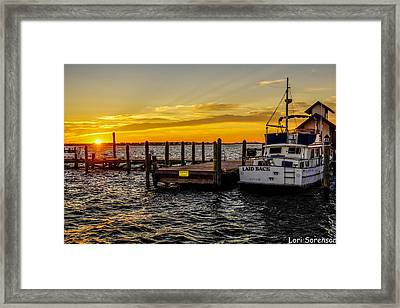 Laid Back Morning Framed Print by Sandy Banks Photography