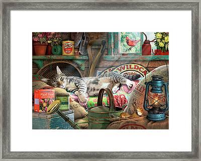 Laid Back Tom Framed Print